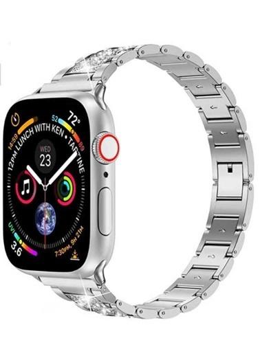 Wiwu Apple Watch 38mm Three Beads Set Auger Metal Kordon Gümüş